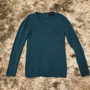 Banana Republic dark teal merino wool sweater